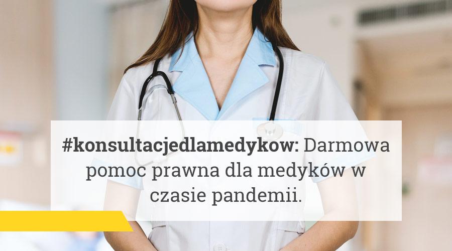 Darmowa pomoc prawna dla medyków w czasie pandemii