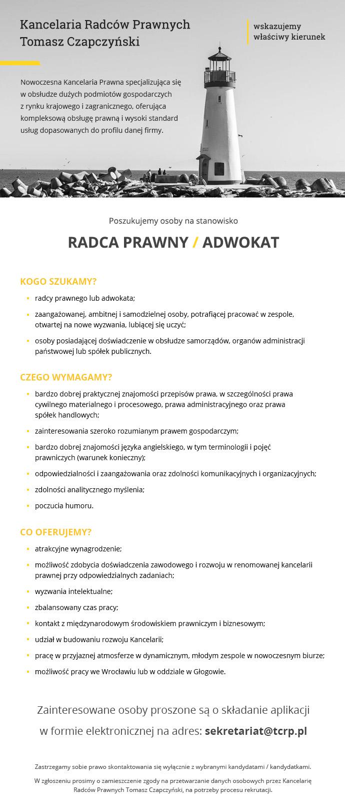 Oferta pracy - kancelaria Czapczyński